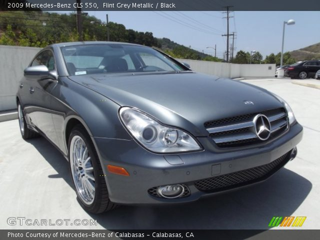 flint grey metallic 2009 mercedes benz cls 550 black. Black Bedroom Furniture Sets. Home Design Ideas