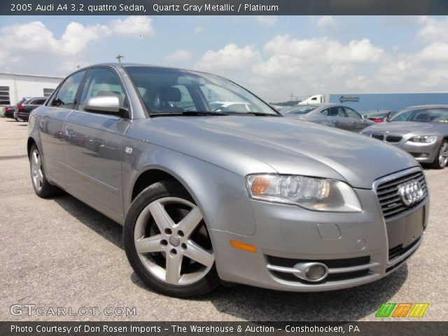 quartz gray metallic 2005 audi a4 3 2 quattro sedan platinum interior. Black Bedroom Furniture Sets. Home Design Ideas
