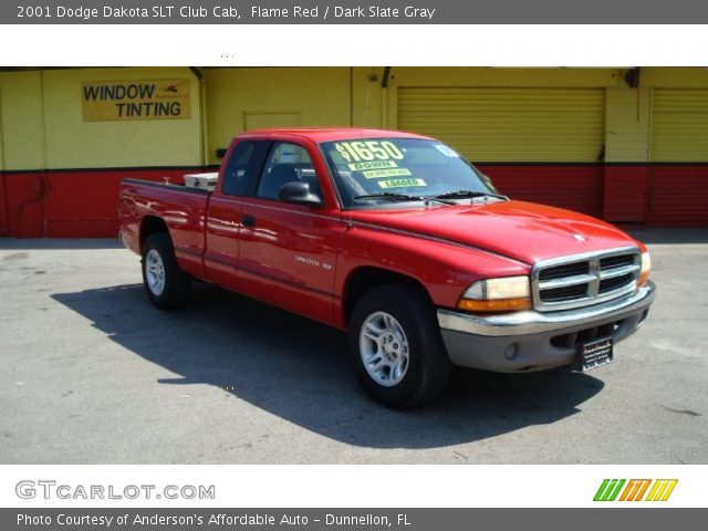 flame red 2001 dodge dakota slt club cab dark slate. Black Bedroom Furniture Sets. Home Design Ideas