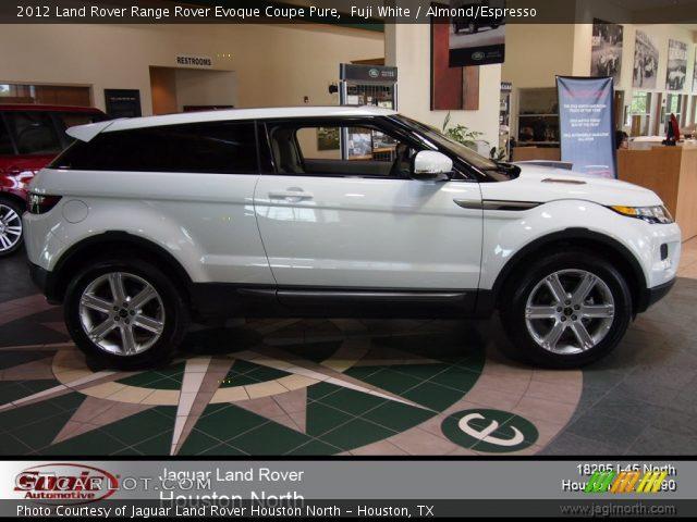 Fuji White 2012 Land Rover Range Rover Evoque Coupe Pure Almond Espresso Interior Gtcarlot
