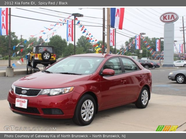 spicy red 2012 kia forte ex black interior vehicle archive 65681583. Black Bedroom Furniture Sets. Home Design Ideas