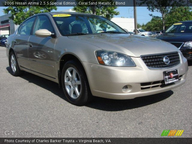 coral sand metallic 2006 nissan altima 2 5 s special. Black Bedroom Furniture Sets. Home Design Ideas