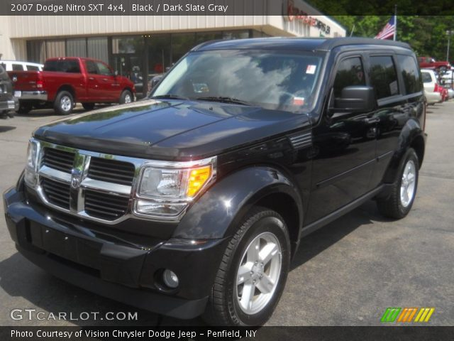 black 2007 dodge nitro sxt 4x4 dark slate gray interior vehicle archive. Black Bedroom Furniture Sets. Home Design Ideas