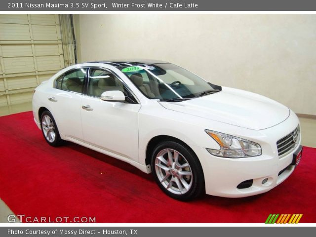 winter frost white 2011 nissan maxima 3 5 sv sport cafe latte interior. Black Bedroom Furniture Sets. Home Design Ideas