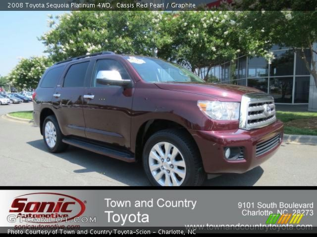 cassis red pearl 2008 toyota sequoia platinum 4wd. Black Bedroom Furniture Sets. Home Design Ideas