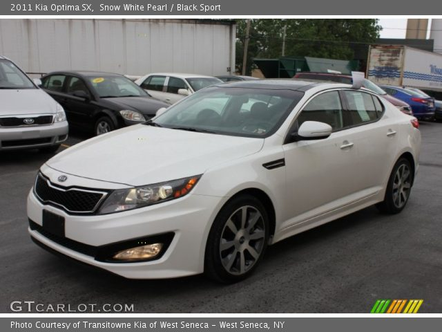 snow white pearl 2011 kia optima sx black sport. Black Bedroom Furniture Sets. Home Design Ideas