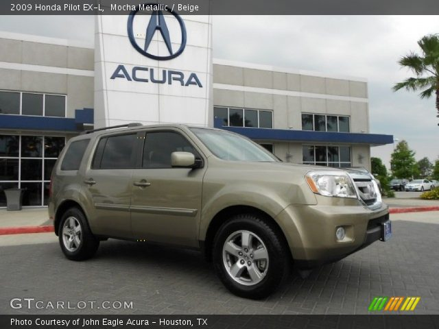 Mocha Metallic 2009 Honda Pilot Ex L Beige Interior Vehicle Archive 65801938