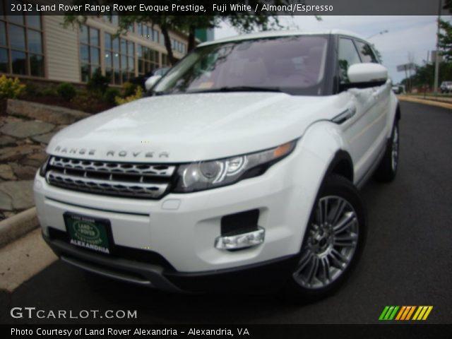 Fuji White 2012 Land Rover Range Rover Evoque Prestige Almond Espresso Interior Gtcarlot