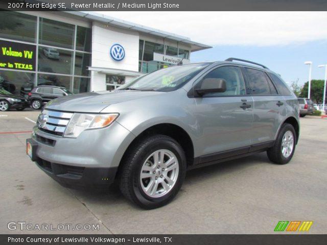 Pewter Metallic 2007 Ford Edge Se Medium Light Stone Interior Vehicle