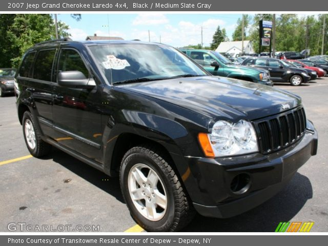 black 2007 jeep grand cherokee laredo 4x4 medium slate gray interior. Black Bedroom Furniture Sets. Home Design Ideas