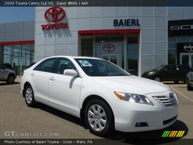 super white 2009 toyota camry xle v6 ash interior vehicle archive 65916334. Black Bedroom Furniture Sets. Home Design Ideas