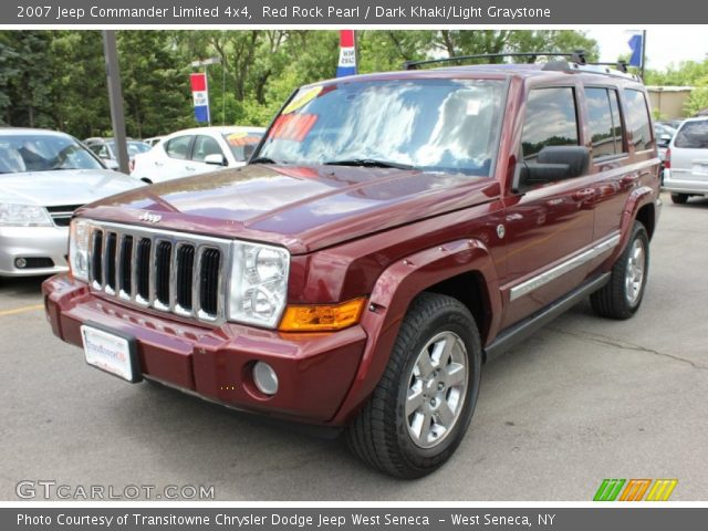 red rock pearl 2007 jeep commander limited 4x4 dark. Black Bedroom Furniture Sets. Home Design Ideas