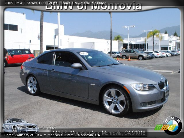 space grey metallic 2009 bmw 3 series 335i coupe black interior vehicle. Black Bedroom Furniture Sets. Home Design Ideas