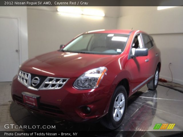 Cayenne red 2012 nissan rogue sv awd gray interior - 2012 nissan rogue exterior colors ...
