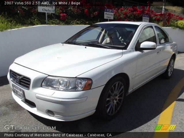 ice white 2007 volvo s60 2 5t awd beige interior vehicle archive 65970306. Black Bedroom Furniture Sets. Home Design Ideas