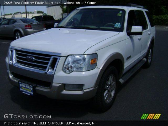 Oxford White 2006 Ford Explorer Eddie Bauer 4x4 Camel Interior Vehicle