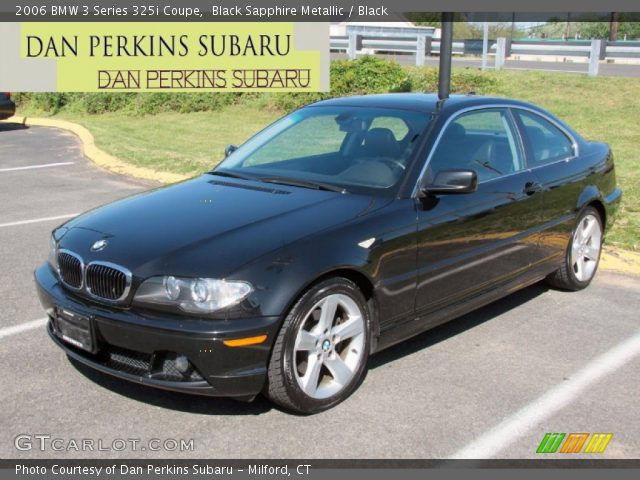 black sapphire metallic 2006 bmw 3 series 325i coupe. Black Bedroom Furniture Sets. Home Design Ideas
