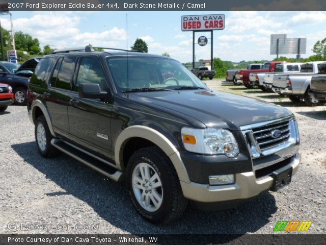 dark stone metallic 2007 ford explorer eddie bauer 4x4 camel interior. Black Bedroom Furniture Sets. Home Design Ideas
