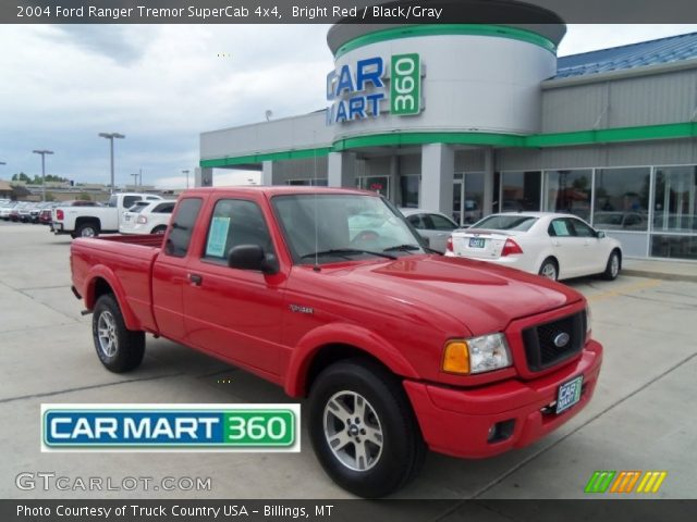 bright red 2004 ford ranger tremor supercab 4x4 black. Black Bedroom Furniture Sets. Home Design Ideas