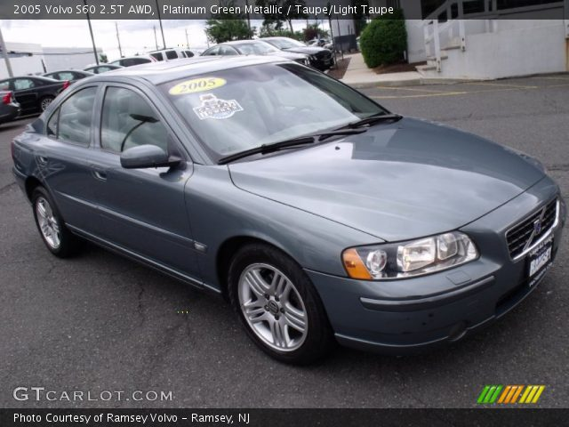 platinum green metallic 2005 volvo s60 2 5t awd taupe light taupe interior. Black Bedroom Furniture Sets. Home Design Ideas