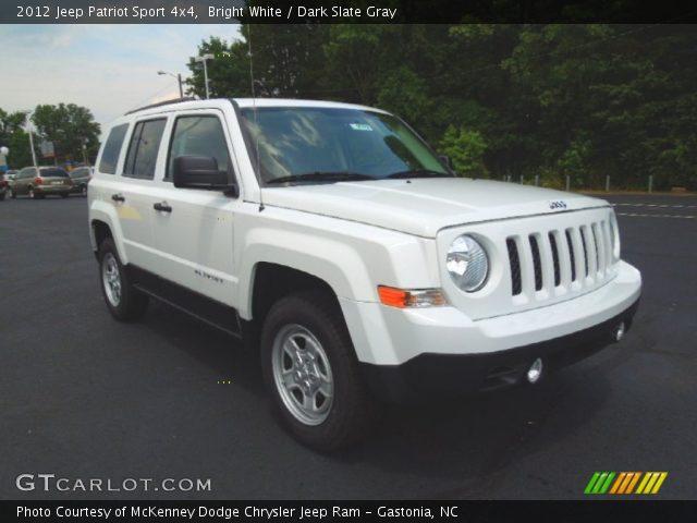 bright white 2012 jeep patriot sport 4x4 dark slate. Black Bedroom Furniture Sets. Home Design Ideas