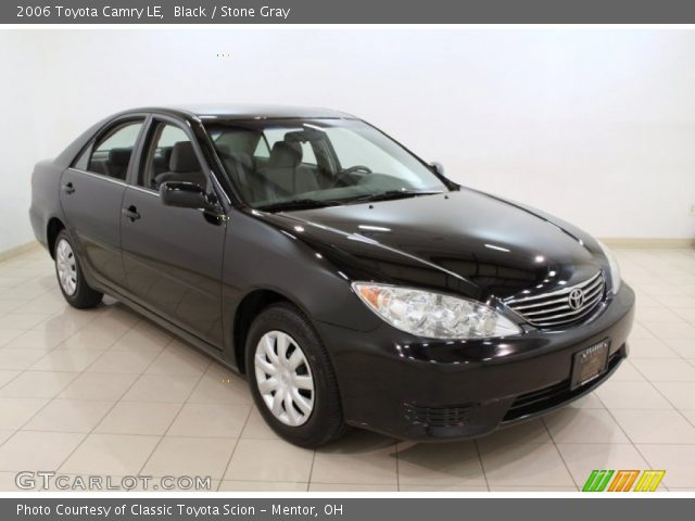 black 2006 toyota camry le stone gray interior vehicle a. Black Bedroom Furniture Sets. Home Design Ideas