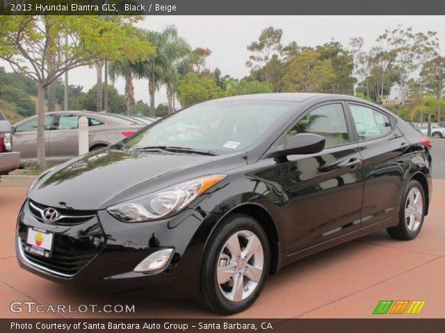 Black 2013 Hyundai Elantra Gls Beige Interior