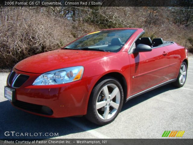 crimson red 2006 pontiac g6 gt convertible ebony. Black Bedroom Furniture Sets. Home Design Ideas