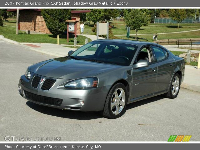 shadow gray metallic 2007 pontiac grand prix gxp sedan ebony interior. Black Bedroom Furniture Sets. Home Design Ideas
