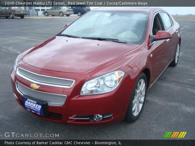 red jewel tint coat 2008 chevrolet malibu ltz sedan cocoa cashmere beige interior gtcarlot. Black Bedroom Furniture Sets. Home Design Ideas