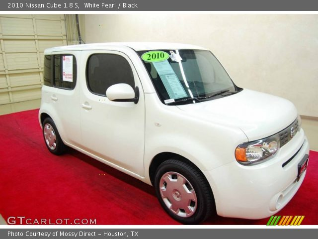 white pearl 2010 nissan cube 1 8 s black interior vehicle archive 66121969. Black Bedroom Furniture Sets. Home Design Ideas