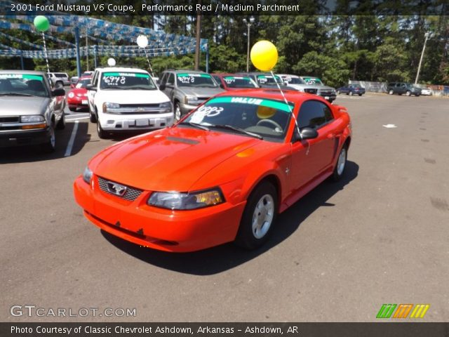 performance red 2001 ford mustang v6 coupe medium. Black Bedroom Furniture Sets. Home Design Ideas