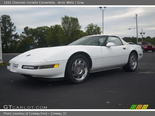Arctic white 1992 chevrolet corvette convertible gray interior vehicle 1992 corvette interior parts