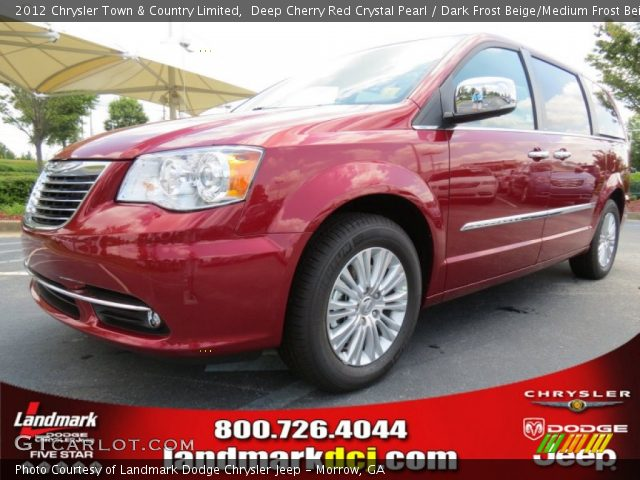 deep cherry red crystal pearl 2012 chrysler town country limited dark frost beige medium. Black Bedroom Furniture Sets. Home Design Ideas