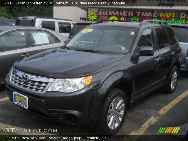 Obsidian Black Pearl 2011 Subaru Forester 2 5 X Premium Platinum Interior