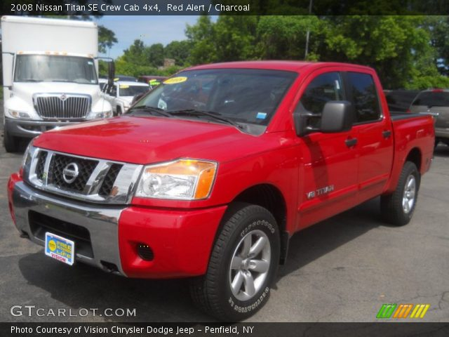 red alert 2008 nissan titan se crew cab 4x4 charcoal interior vehicle. Black Bedroom Furniture Sets. Home Design Ideas