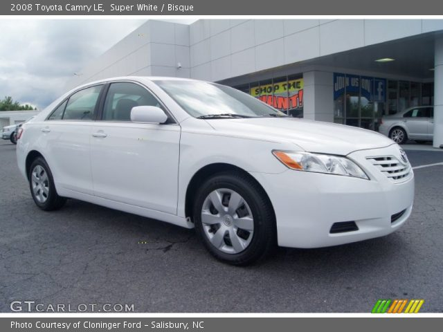super white 2008 toyota camry le bisque interior vehicle archive 66207717. Black Bedroom Furniture Sets. Home Design Ideas