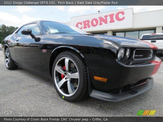 Pitch Black 2012 Dodge Challenger Srt8 392 Dark Slate Gray Radar Red Interior