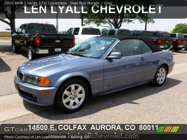 steel blue metallic 2000 bmw 3 series 323i convertible. Black Bedroom Furniture Sets. Home Design Ideas