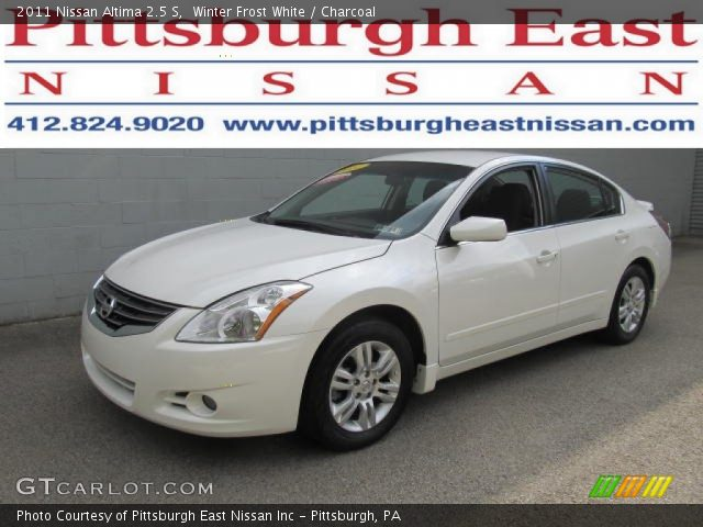 2011 Nissan Altima 2.5 S in Winter Frost White. Click to see large ...