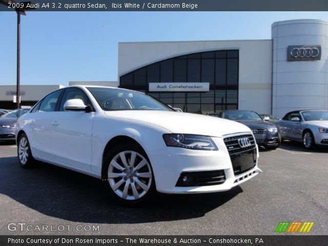 ibis white 2009 audi a4 3 2 quattro sedan cardamom. Black Bedroom Furniture Sets. Home Design Ideas