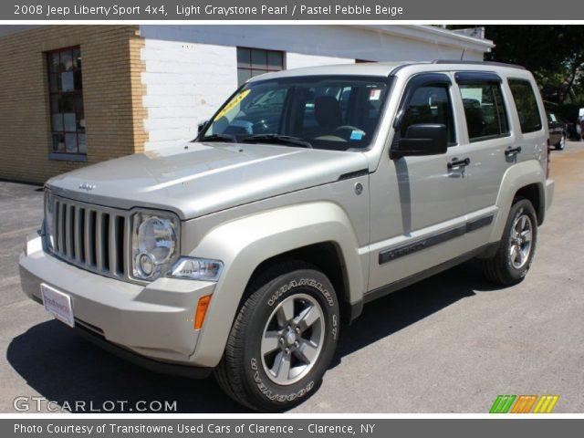 Light Graystone Pearl 2008 Jeep Liberty Sport 4x4 Pastel Pebble Beige Interior Gtcarlot