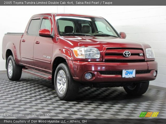 salsa red pearl 2005 toyota tundra limited double cab 4x4 taupe interior. Black Bedroom Furniture Sets. Home Design Ideas