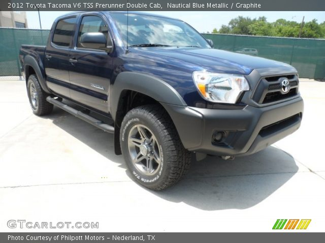 nautical blue metallic 2012 toyota tacoma v6 tss prerunner double cab graphite interior. Black Bedroom Furniture Sets. Home Design Ideas