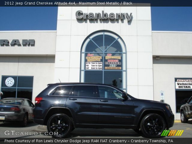 2012 Jeep Grand Cherokee Altitude 4x4 in Maximum Steel Metallic
