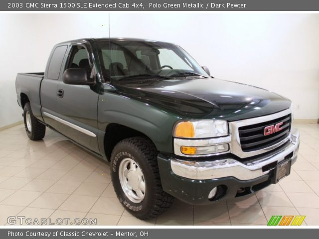 polo green metallic 2003 gmc sierra 1500 sle extended cab 4x4 dark pewter interior. Black Bedroom Furniture Sets. Home Design Ideas