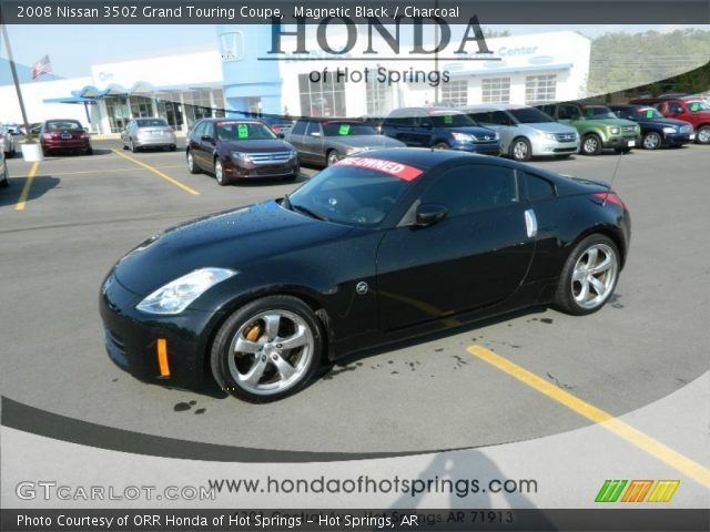 magnetic black 2008 nissan 350z grand touring coupe charcoal interior. Black Bedroom Furniture Sets. Home Design Ideas