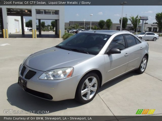 Liquid Silver Metallic 2006 Pontiac G6 Gtp Sedan Ebony Interior Vehicle