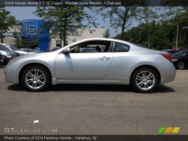 Radiant Silver Metallic 2008 Nissan Altima 35 Se Coupe Charcoal