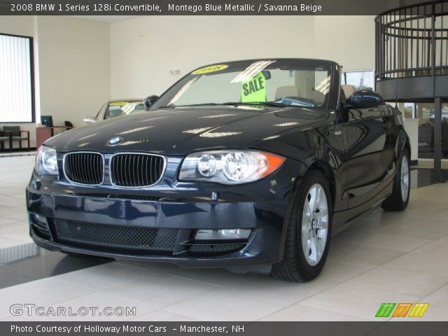 montego blue metallic 2008 bmw 1 series 128i convertible savanna beige interior gtcarlot. Black Bedroom Furniture Sets. Home Design Ideas